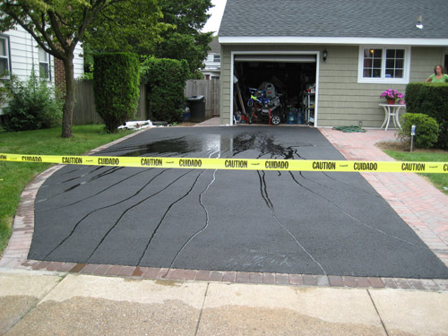 T Riccoboni Asphalt Paving Long Island Beautiful Brick and Blacktop Driveway Job 1