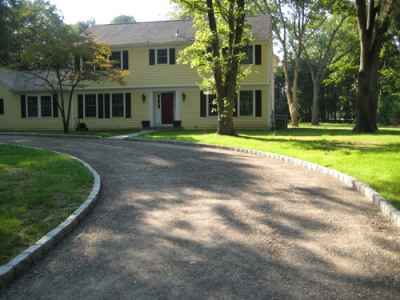 Big Asphalt Paving Blacktop Driveway Half Circle Job 3
