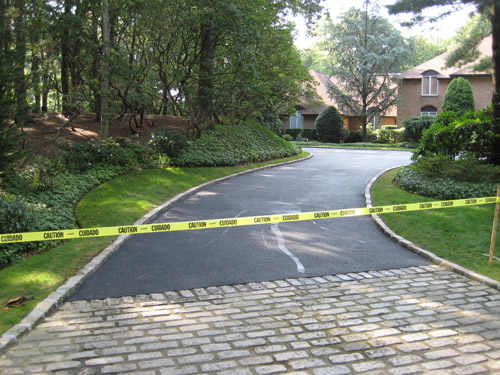 T Riccoboni Asphalt Paving Long Island Big Driveway Job 1